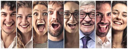collage caras: Gente Feliz