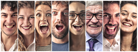 seniors: Happy people Stock Photo