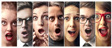 collage caras: Gente sorprendida