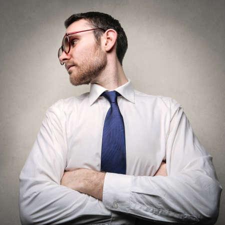 severity: Businessmans portrait Stock Photo
