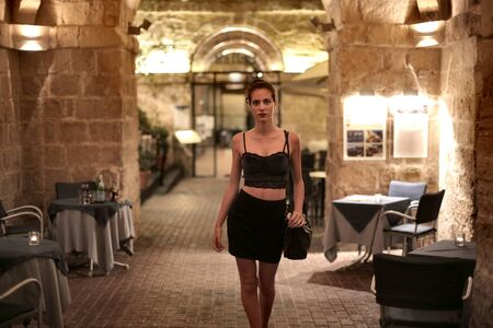 night out: Woman spending the night out