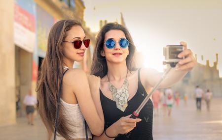 double click: Friends doing a selfie