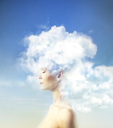 雲の中の心します。