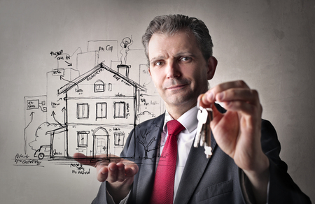 projecting: Manager projecting a house