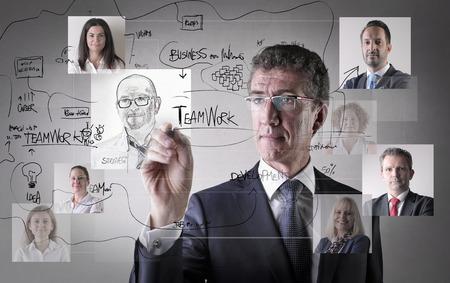 immagination: Businessman choosing his colleagues