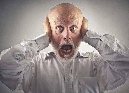 gente loca: Hombre sorprendido  Foto de archivo