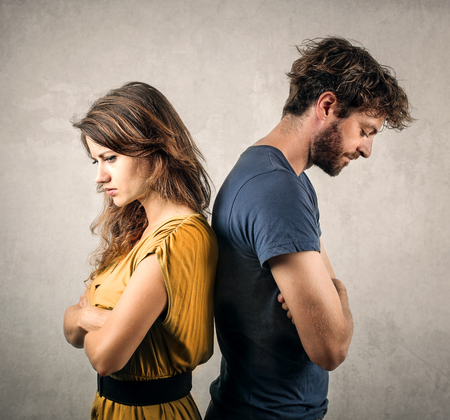 divergence: Angry couple Stock Photo