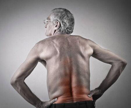 elderly care: Elderly mans headache
