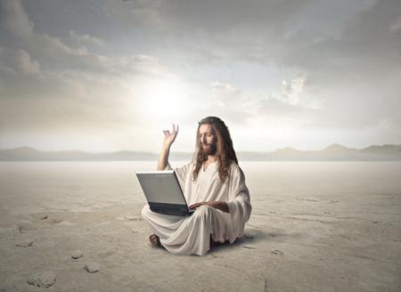 사막에 계신 예수님