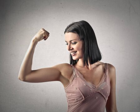 strong woman: Strong woman Stock Photo