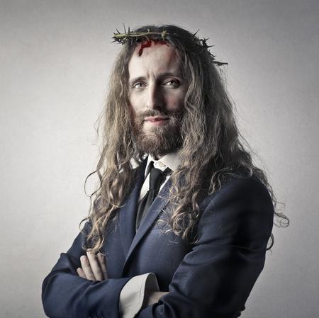 イエスやビジネスマン 写真素材
