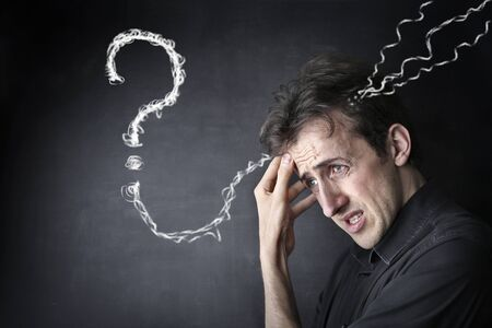 forgetful: Man with questions