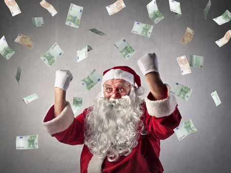 Rich Santa Claus Stock Photo