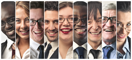 Smiling people from all over the world