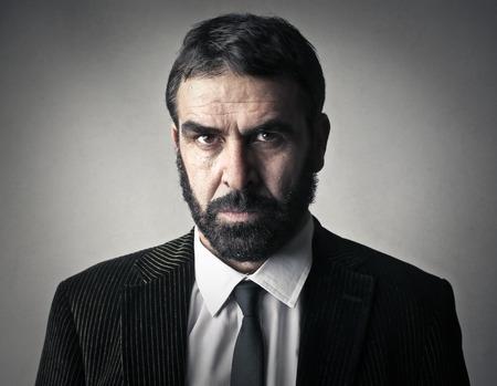 face work: Serious mans portrait