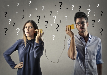 Problems in communication Stock Photo