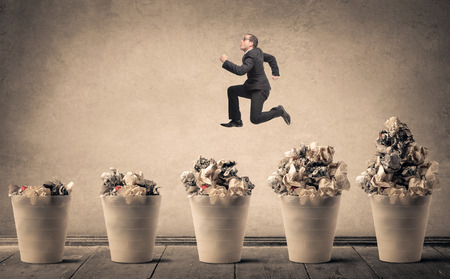 useless: Jumping from a trash can to another