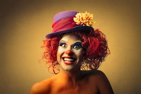 Happy clown smiling Foto de archivo