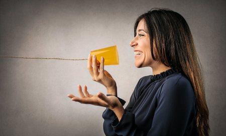 Der Versuch, zu kommunizieren, Lizenzfreie Bilder