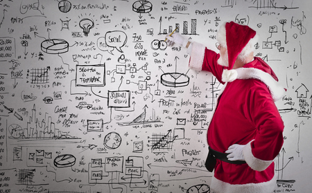 santa claus background: Santa Claus drawing business graphics