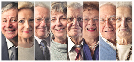 old people group: Elderly peoples portraits