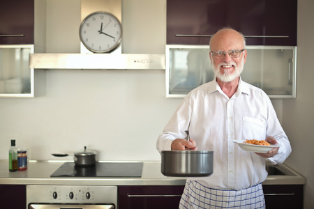 home cooking: Man cooking at home