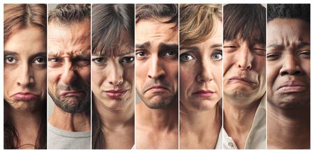 Porträts der traurige Menschen Lizenzfreie Bilder