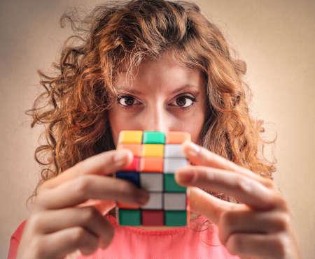 Tratando de resolver el cubo de Rubik