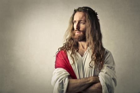 Jésus regarde au loin Banque d'images