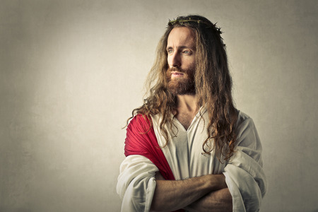 Jesús mira lejos Foto de archivo
