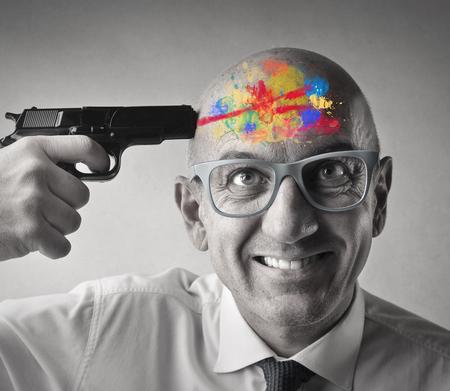 Colorful shot with a gun 版權商用圖片