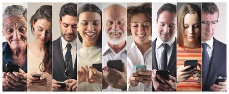 Het verzenden van SMS-berichten Stockfoto
