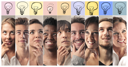 expressing: People expressing different ideas
