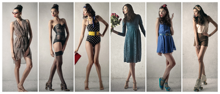 undress: Same person different clothes Stock Photo