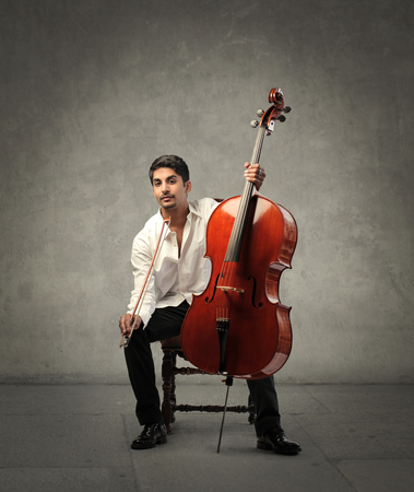 artisitc: Playing the cello