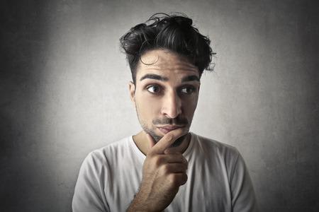 perplexity: Man in a pensive mood