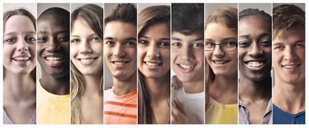 garcon africain: Adolescents souriants