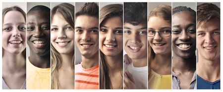 Teenager lächelnd