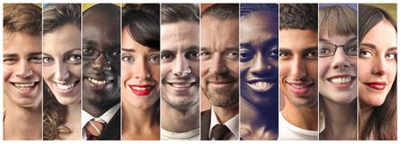 Multi-etnische mensen Stockfoto