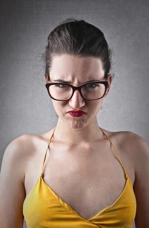 desprecio: Retrato de la mujer Decepcionado