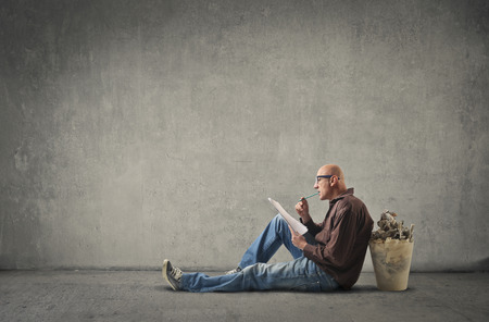 wall paper: Man looking for an inspiration
