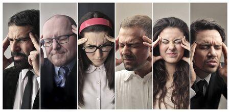 Portraits von Menschen denken