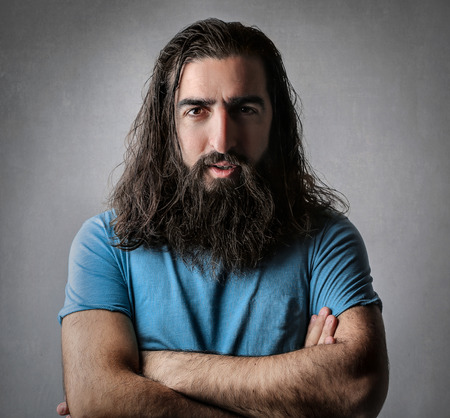 mustache: Bearded mans portrait