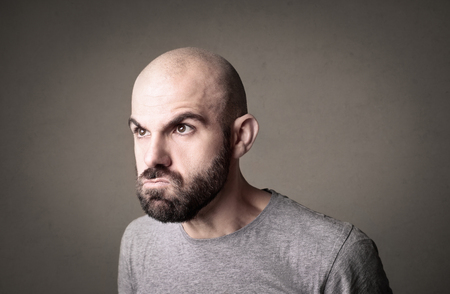 disappoint: Angry mans portrait