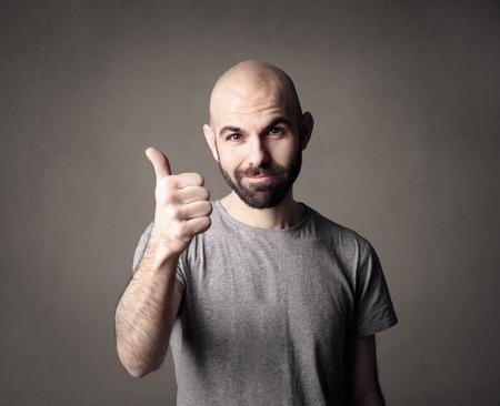 positive feeling: Feeling positive Stock Photo