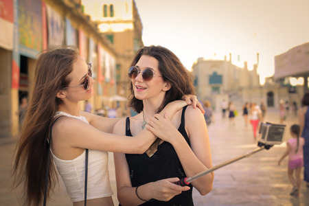 love pic: Friends hanging out Stock Photo