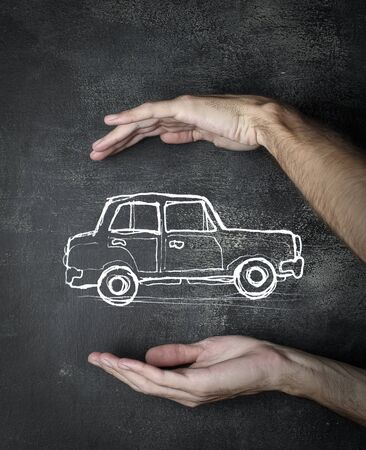 protection hands: Holding the ideal car
