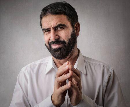 prevail: Self-confident mans portrait