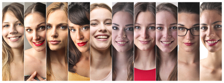 Different women's portraits photo