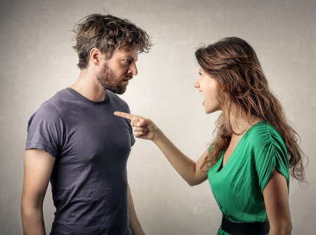 lovers quarrel: Couple in a fight